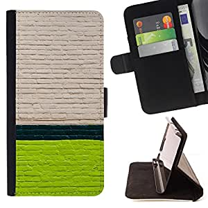 Jordan Colourful Shop - wall white green lines street city For Apple Iphone 6 PLUS 5.5 - Leather Case Absorci???¡¯???€????€???????&bd