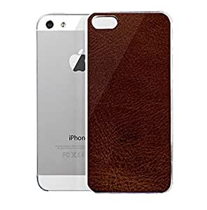 Light weight with strong PC plastic case for iPhone iphone 5s Patterns Textiles Dark Brown Leather