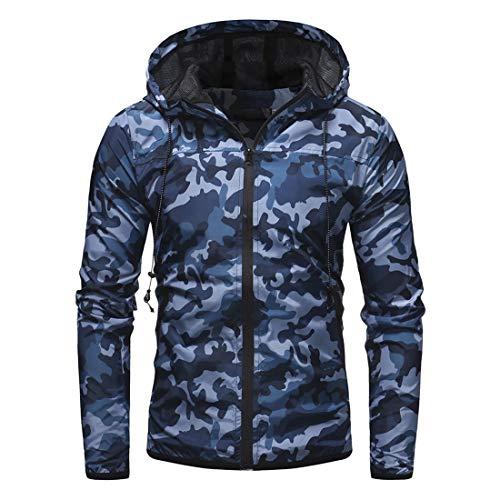 Veste à Capuche Homme Manches Longues Full Zip Manteau Nouveau Camo Imprimer Poches Hoodie Homme Hoodie Classic Fashion… 1