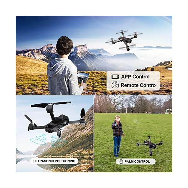 EACHINE EX3 Drone 2K Telecamera GPS Brushless 5G WiFi Lente Grandangolo Pieghevole Drone App Controllo FPV RTF 4 spesavip