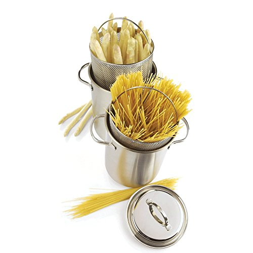 Henckels Stainless Steel Pasta Insert (Demeyere Resto 4.7-Quart Asparagus/Pasta Cooker, Silver)