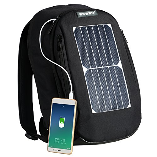ECEEN Laptop Backpack with 7W Waterproof Solar Panel Charger + 2000mAH...