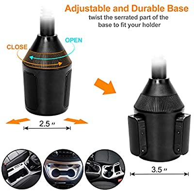 Cup Phone Holder for car Universal Adjustable Gooseneck Portable Cup Holder Car Mount for iPhone X / 8/8+ / 7/7 Plus / 6/6+, Samsung