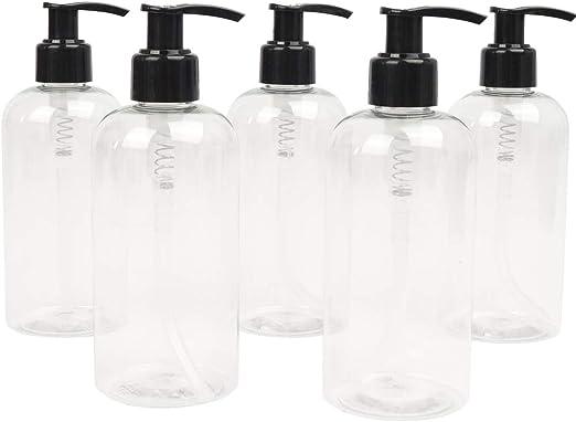 LUCEMILL - 5 Botellas de plástico vacías de 250 ml con dispensador ...