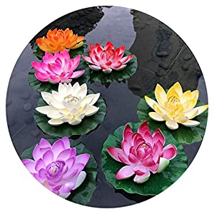 1 Pcs 10Cm Floating Lotus Artificial Flower Wedding Home Party Decorations DIY Water Lily Mariage Fake Plants 32