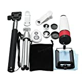 12 in 1 Accessories Phone Camera Lens Top Travel Kit For for - Mobile Photography Lenses - 1 x 12x Telephoto Lens