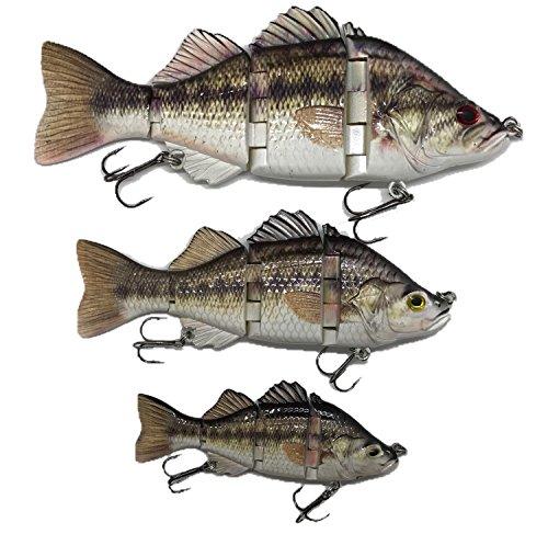 Best Bass Pike Walleye Muskie Fishing Lures Amazing Swimbait With Vivid Fish Swimming Action Bait (Baby Bass, 4