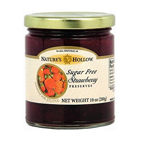Sugar Free Strawberry Jam - NATURE'S HOLLOW, PRESERVES, STRAWBERRY, SF - Pack of 6