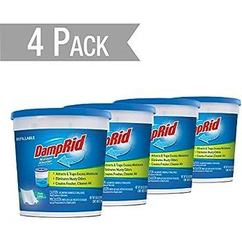 DampRid DR Moist ABS 10.5OZ Pure Linen 4PK - SIOC Moisture Absorber, 4 Pack, Blue, 10 Ounces