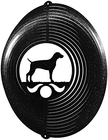 Weimaraner Circle Swirly Metal Wind Spinner 2279
