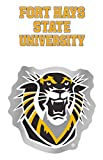 WinCraft Fort Hays State University Tigers Decal Gift Set 1 auto badge decal and 1 small multi-use wall cling style decal