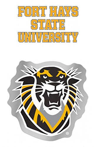 WinCraft Fort Hays State University Tigers Decal Gift Set 1 auto badge decal and 1 small multi-use wall cling style decal (Hays State Tigers)
