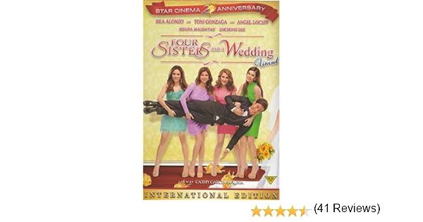 Amazon Four Sisters And A Wedding Filipino DVD Bea Alonzo Toni Gonzaga Angel Locsin Enchong Dee Shaina Magdayao Cathy Garcia Molina Movies TV