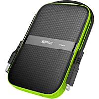 Silicon Power 4TB Type C External Hard Drive USB 3.0 Rugged Armor A60 Shockproof / Water-Resistant, Dual Cables Included (Type C to Type A & Type A to Type A), Black