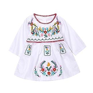 7f7cfcb3db1cd Amazon.com: Liliana Cruz Embroidered Mexican Youth Girls Dress (0 ...