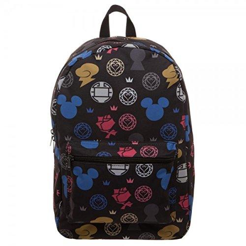 Kingdom Hearts Symbols All Over Print Backpack Standard