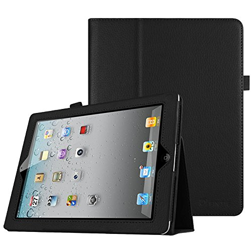 Fintie iPad 4/3/2 Case - Slim Fit Folio Stand Case Smart Protective Cover Auto Sleep/Wake Feature for Apple iPad 2, iPad 3 & iPad 4th Generation with Retina Display - (Black)
