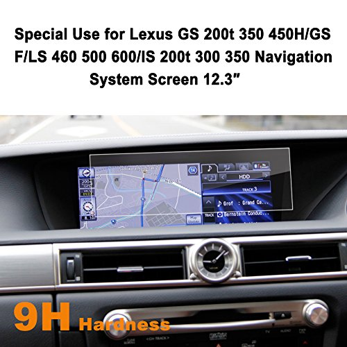 LFOTPP Lexus GS 200t 350 450H/GS F/LS 460 500 600/IS 200t 300 350 12.3-Inch Car Navigation Screen Protector, [9H] Tempered Glass Center Touch Screen Protector Anti Scratch High Clarity (Starfire Floor)