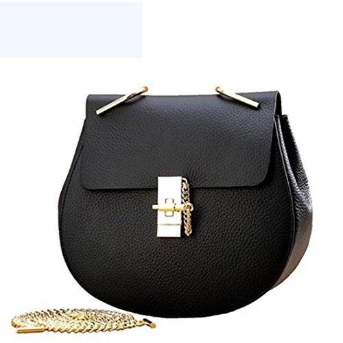 véritable main noir petit rond femme sac couleur chaîne cuir unie rouge à sac 5 en U8q4S