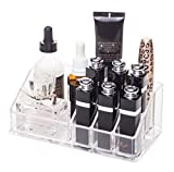 Small Bathroom Cabinet with Marble Top Choice Fun Acrylic Handy Makeup Tray 1 Compact Powder Deck 2 Lotion Cup 6 Lipstick Lattice Transparent QFJJSN-NSF-1032