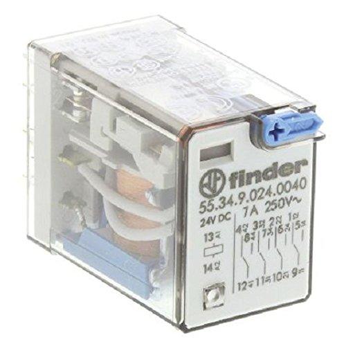 Finder 55.34.9.024.0040 - Relais sans accrochage 4 RT Enfichable, bobine 24V dc Came