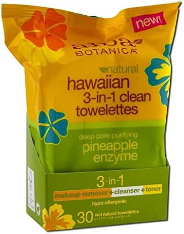 Alba Botanica Hawaiian 3-in-1 Clean Towelettes (Pack of 2)