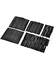 Yorten 127pcs Black Shrinkable Tube Polyolefin Halogen-Free Heat Shrink Tubing Electrical Equipment Tube Sleeving Wrap Wire Cable Sleeve Kit Shrink Ratio 2:1 φ2.0-φ13mm