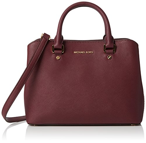 Michael Kors Savannah Medium Satchel, 30S6GS7S2L PLUM by MICHAEL Michael Kors