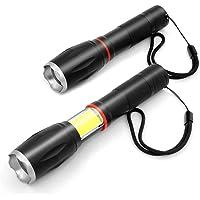 Maxesla Linterna LED, Potente ultrabrillante 2000 Lúmenes,IPX6 Resistente al Agua, Portátil Magnética Flashlight LED de…