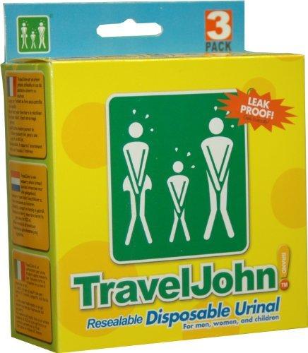 TravelJohn Disposable Urinal Bag - 6 x (18 urinals) by Travel John