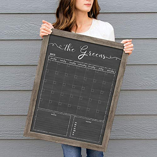 Wall Calendar, Dry Erase Calendar, 18x24 Customized Dry