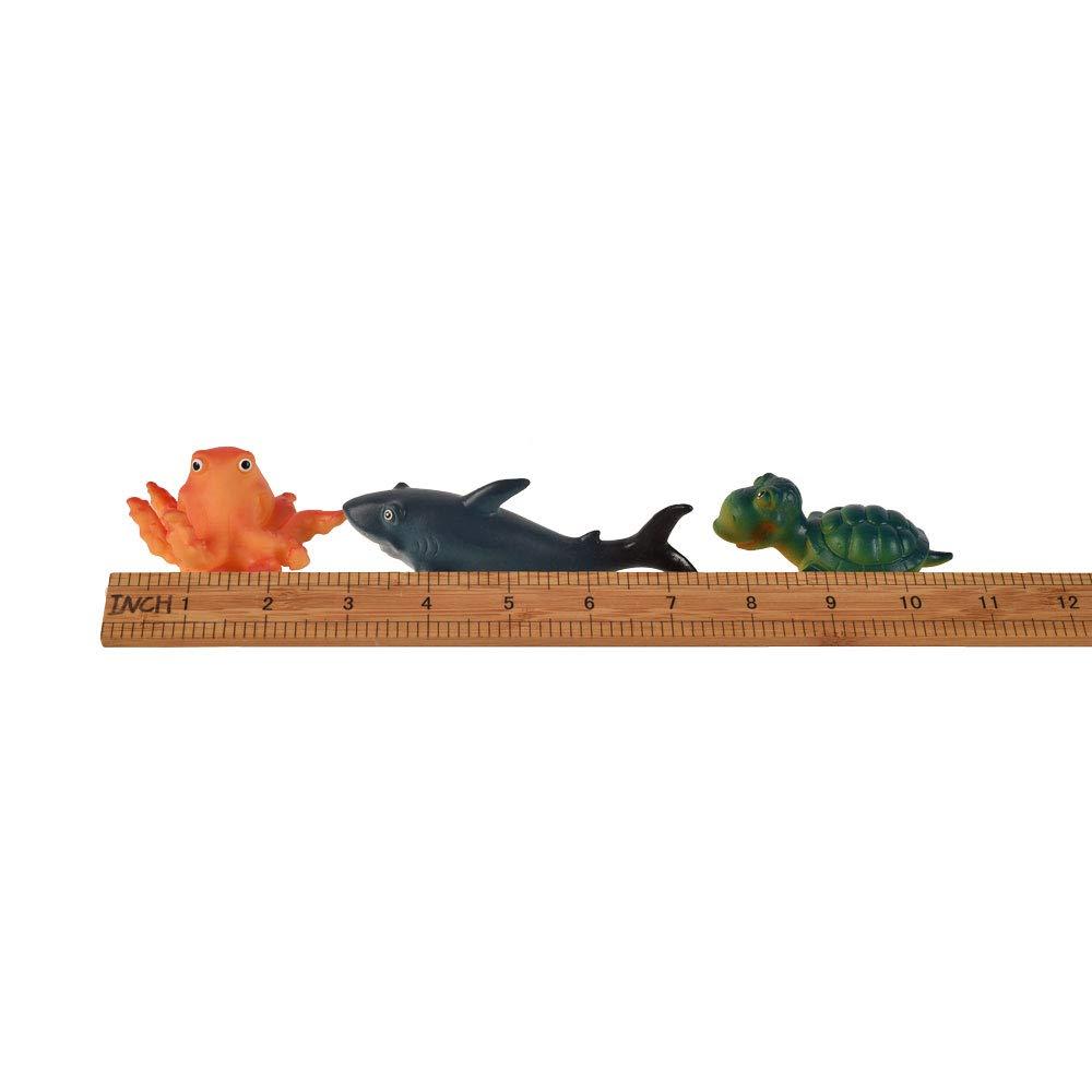 Aquarium Decorations Baby Bath Play Bathtub Toys Assorted 6pcs Squirting Marine Animals Cute Floating Cartoon Soft