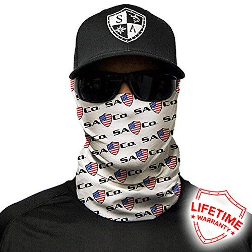 Salt Armour Face Mask Shield Protective Balaclava Bandana MicroFiber Tube Neck Warmer - SA CO. American Shield