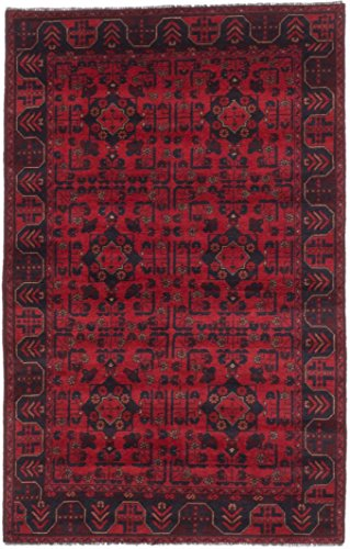 Ecarpetgallery Hand-Knotted Finest Khal Mohammadi Red 4' x 6' 100% Wool Traditional Area Rug from eCarpet Gallery