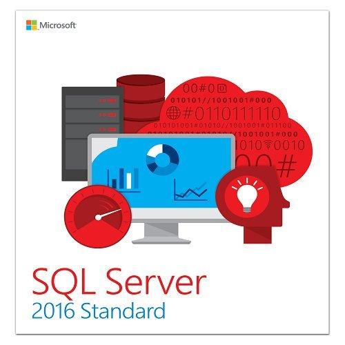 Software : Microsoft SQL Server 2016 Standard Edition - 10 Client, 1 Server