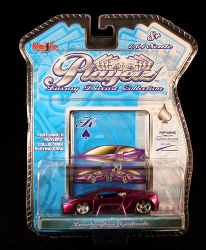 LAMBORGHINI GALLARDO * PURPLE * Maisto PLAYERZ Luxury Die-Cast Collection 1:64 Scale Vehicle