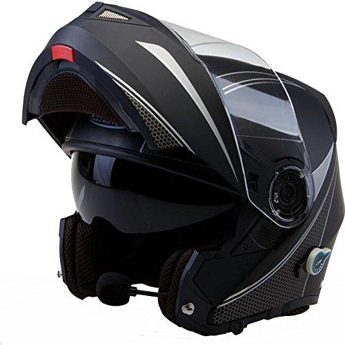 Viper RS-V151 Flash Bluetooth Mentonera Deslizante Casco De Moto - Negro Mate, Medium: Amazon.es: Deportes y aire libre