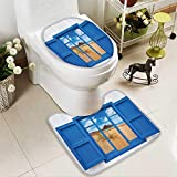 Muyindo Lid Toilet Cover Sand From Window Of Spain ach Distant Hill Plants Sand Touristic Bathroom Cushion Non-slip