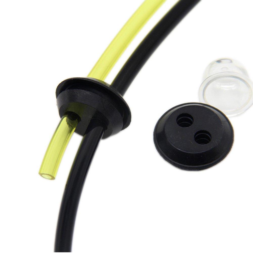 SWNKDG Filtro universal de gasolina con manguito y junta para desbrozadora, recortadora, cortasetos podadora