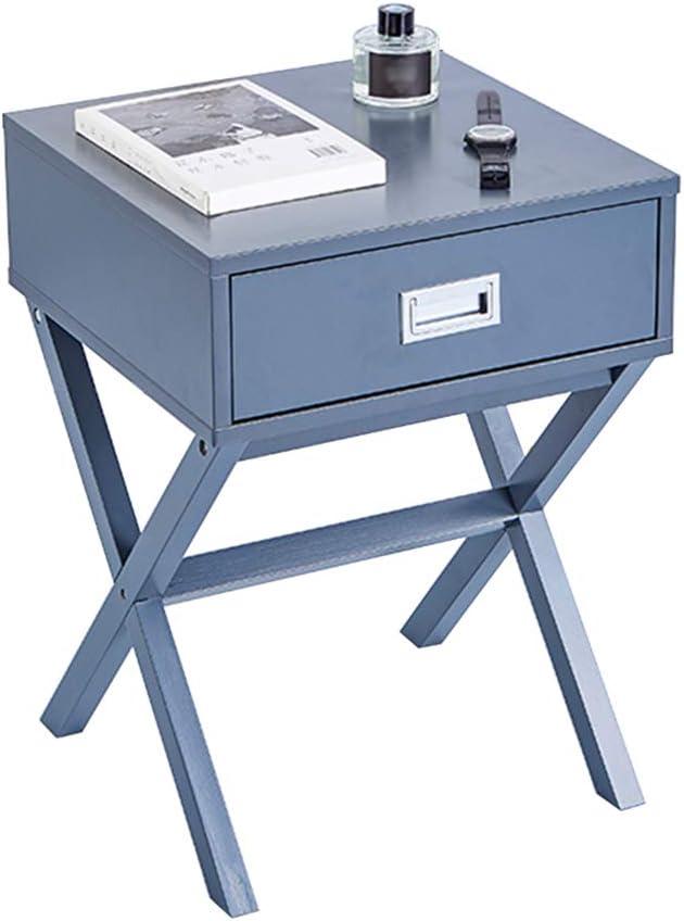 FEIFEI サイドテーブルMDF +ソリッドウッド脚クリエイティブソファサイドテーブル引き出し付きミニコーヒーテーブル40 * 40 * 55センチ、5色 (色 : C)