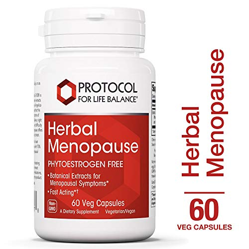 Protocol For Life Balance - Herbal Menopause - Phytoestrogen Free with Botanical Extracts for Menopausal Symptom like Hot Flashes, Night Sweats, Moodiness, Fatigue, More - 60 Veg Capsules (Best Herbal Supplement For Menopause Symptoms)