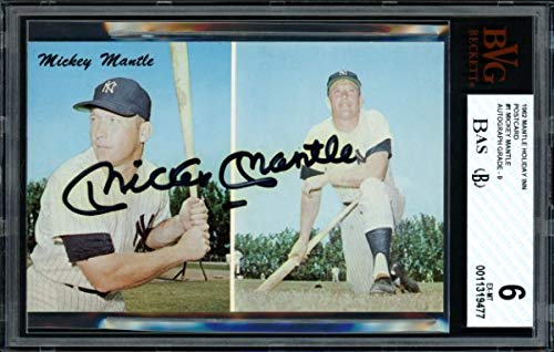 Mickey Mantle Autographed 1962 Dexter Press Holiday Inn Postcard #1 New York Yankees Auto Grade Mint 9 Card Grade 6 Beckett Bas #11319477 from Sports Collectibles Online