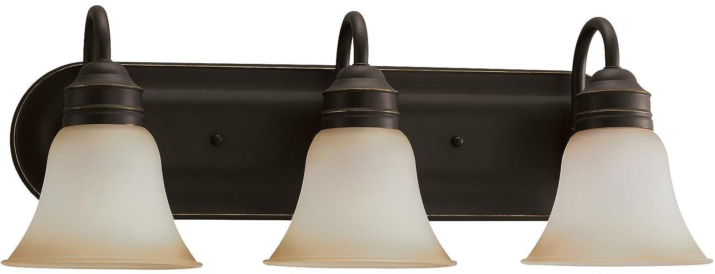 Sea Gull照明Gladstone家宝ブロンズEnergy Star three-light LED Bath Vanity   B076FRZJZN