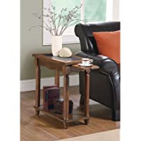 Coaster 900973 Chairside Table, Warm Brown