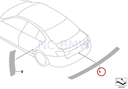 Amazon Com Bmw Genuine Transparent Trunk Edge Protector Film