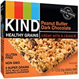 KIND Healthy Grains Bars, Peanut Butter Dark Chocolate, Non GMO, Gluten Free, 1.2 oz, 5 Count (6 Pack)