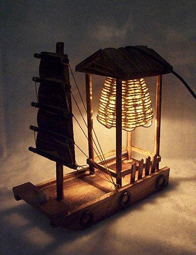 Sepfortn Juguetes de madera creativa Jardín Lámpara de mesa ...