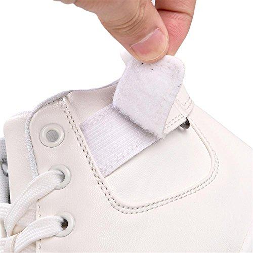 scarpe sportive Scarpe da corsa Scarpe piatte maschi Assorbimento degli urti traspirante Sport all'aria aperta Fatto a mano Usura antiscivolo , White , UK 8 / EU 42