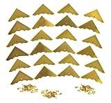 24pcs. Beautiful Shiny Gold Box Corners with Mounting Screws