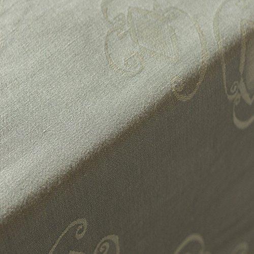 ADONIE – Tovaglia Modello Eros, 50% lino 25% cotone 25% Poliestere, Lavabile in Lavatrice (220  220) Grigio